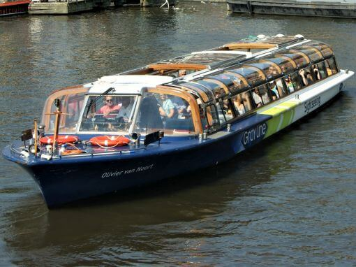 Amsterdam Canal Cruise on a Large Tour Boat