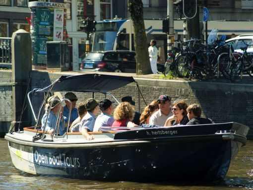 Amsterdam Canal Cruise on an Open Life Boat or Sloop