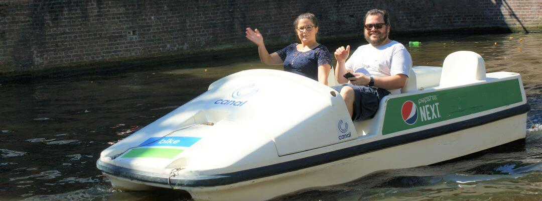 Canal Tour Amsterdam at Boaty or Boats4rent Boat Rental or by Pedal Boat, Kayak or SUP
