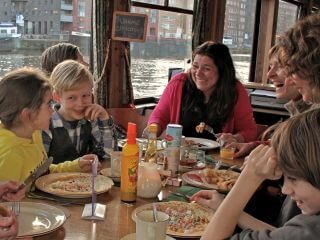 Cheap Amsterdam Harbor Boat Tour with unlimited Pancakes
